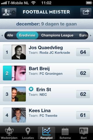 Top 5 iPhone-apps van 2011 Football Meister