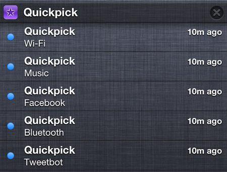 Quickpick iPhone
