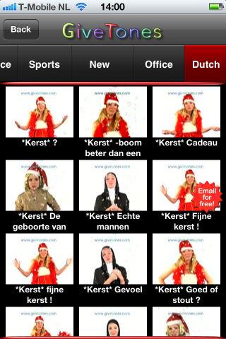 Kerstapps GiveTones kerstwensen iPhone iPod touch