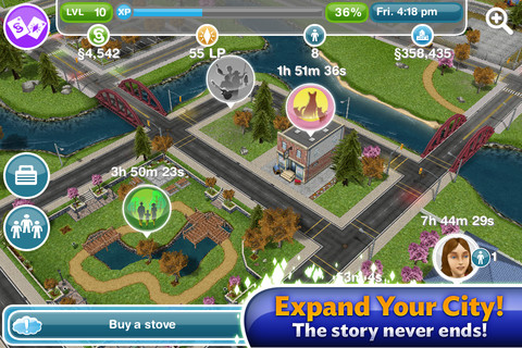 The Sims FreePlay dorpje