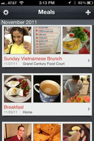 Evernote Food voedseldagboek iPhone