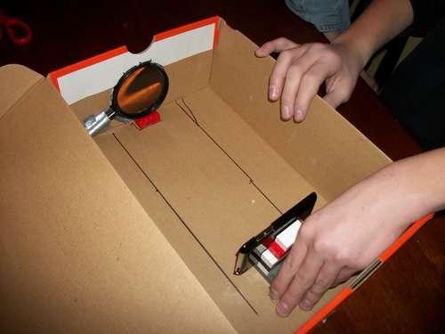 iPhone projector doos