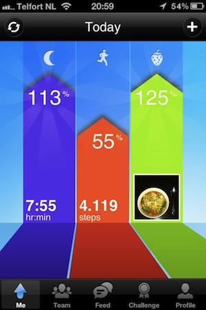 jawbone app score