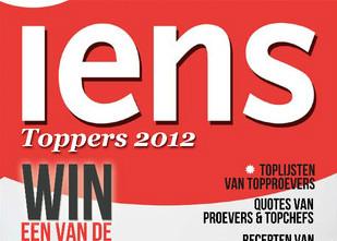 IENS Toppers 2012 restaurantgids op iPhone