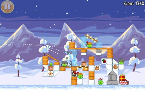 Kerstupdates Angry Birds Seasons