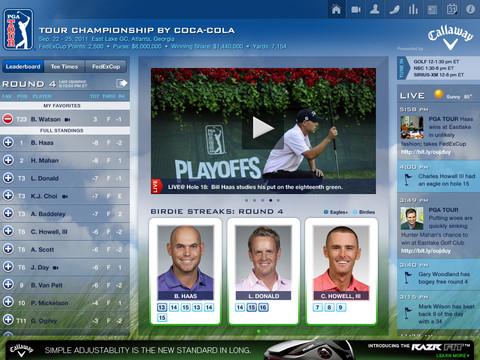 PGA Tour HD hoofdscherm iPad