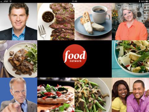Food Network in the Kitchen hoofdmenu header iPad
