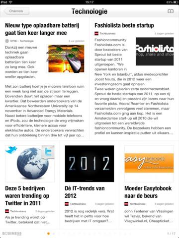 NLinBusiness technologiepagina