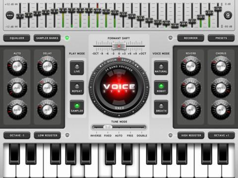 Voice Synth iPad header