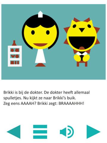 Brikki kinderverhalen op de iPad