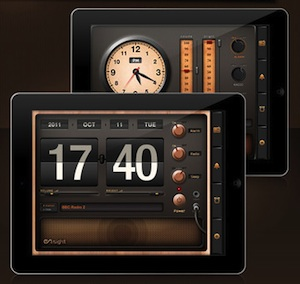 radio alarm clock hd maakt van je ipad een antieke klokradio. Black Bedroom Furniture Sets. Home Design Ideas