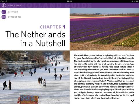 The Holland Guide iPad hoofdstuk