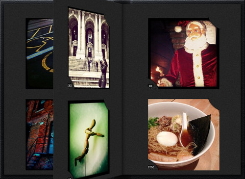 Instalbum iPad Instagram pagina omslaan