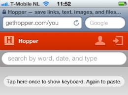 Hopper iPhone iPod touch kopiëren en plakken in HTML5 cloud
