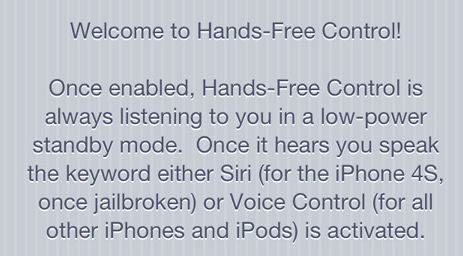 Hands-Free Control
