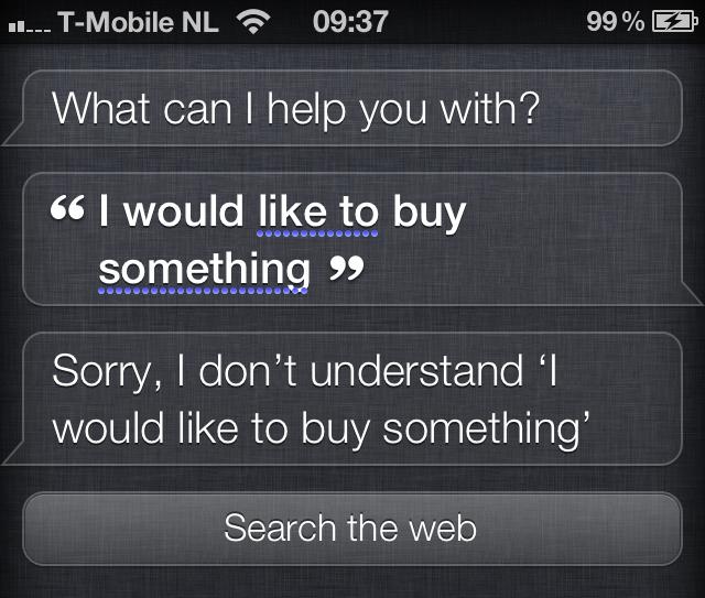 Siri online winkelen