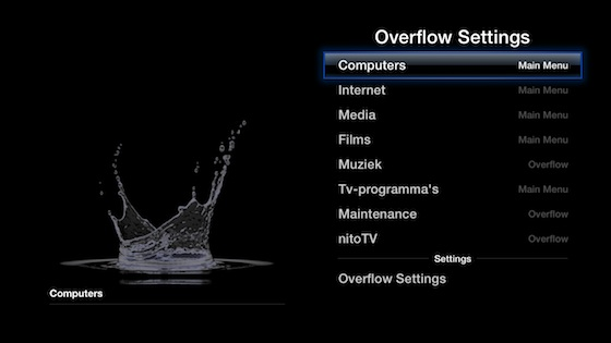 overflow apple tv
