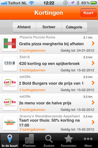 Korting-apps iPhone Pocketdeals NL