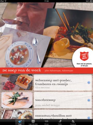 Soep van Leger des Heils op iPad recepten