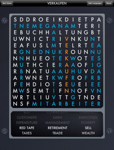 Mega Multilingual Word Find iPad screenshot