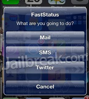 Snel sms'en, mailen en twitteren met FastStatus (jailbreak)