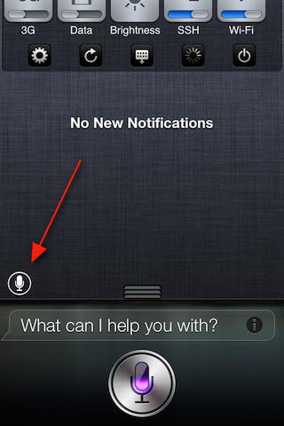 Open Siri vanuit het berichtencentrum met SiriLaunch (jailbreak)