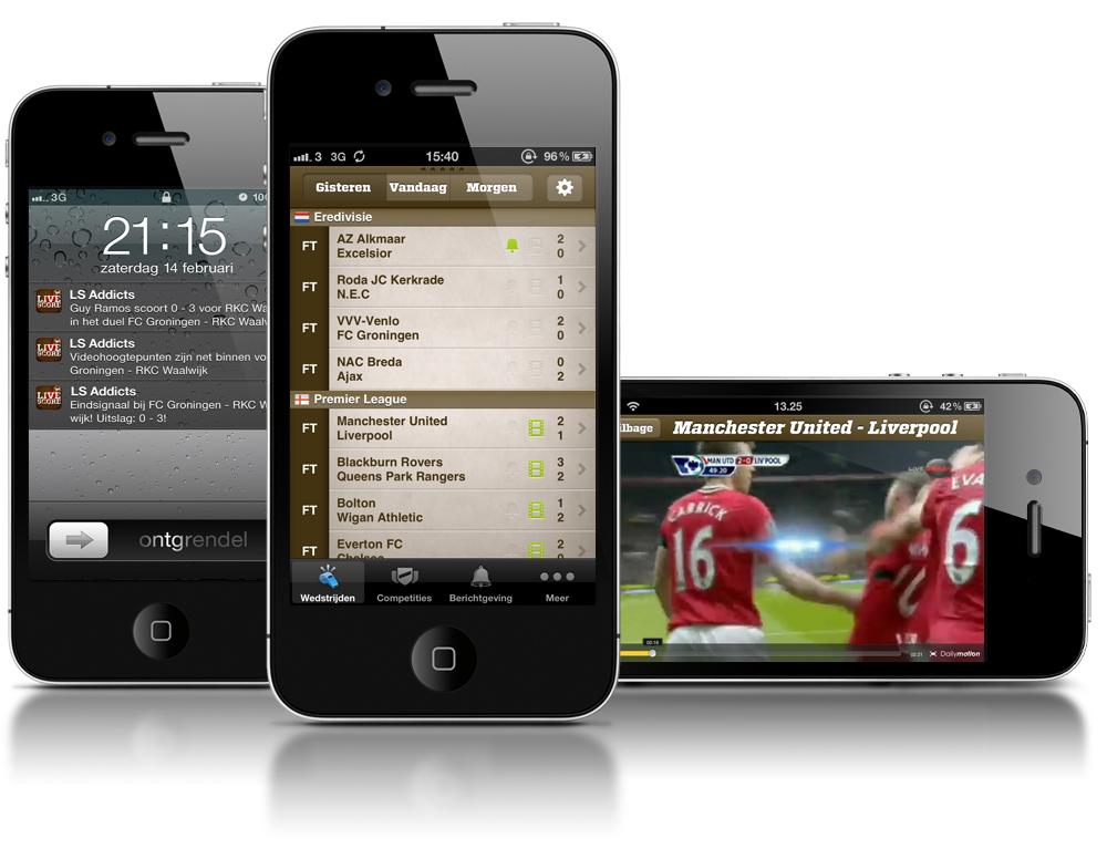 Blijf op de hoogte van je favoriete voetbalclub met Live Score Addicts