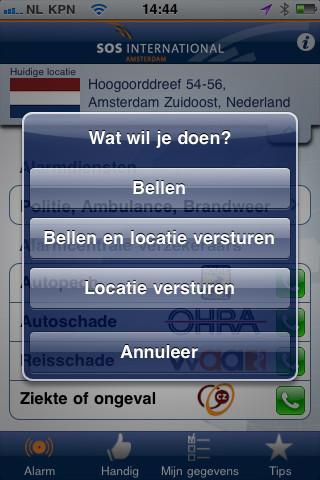Op Reis iPhone opties