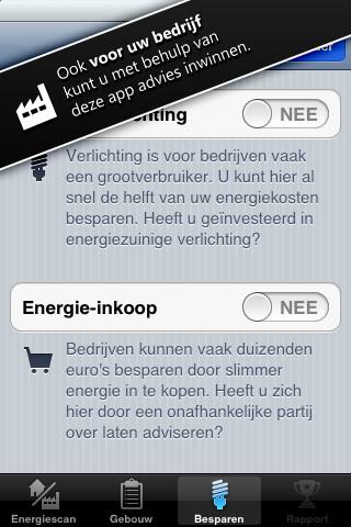 Energiescan zakelijk gebruik