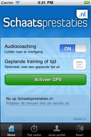 Schaatsprestaties audiocoaching aan uit