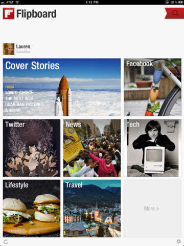 Flipboard Cover stories