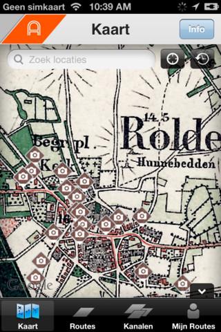 Annodrenthe historische kaart Rolde