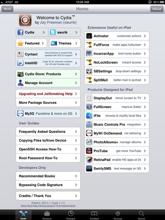 Cydia op de iPad 3