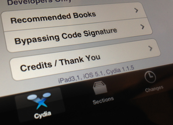Cydia op de iPad 3 op iOS 5.1