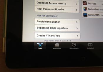 iOS 5.1 jailbreak op iPad 2