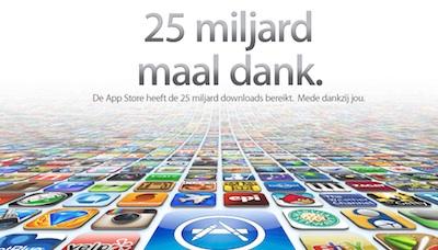 25 miljard maal dank