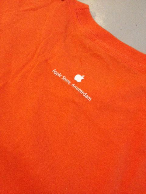 Apple-shirt achterkant