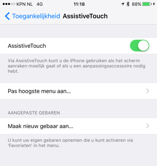 AssistiveTouch activeren