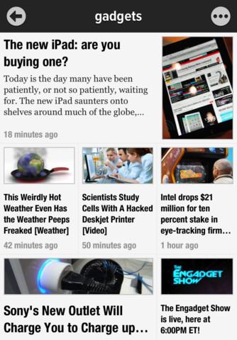 Newsify nieuwspagina