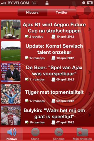 Ajax1.nl nieuwsoverzicht