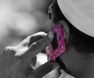 roze telefoon