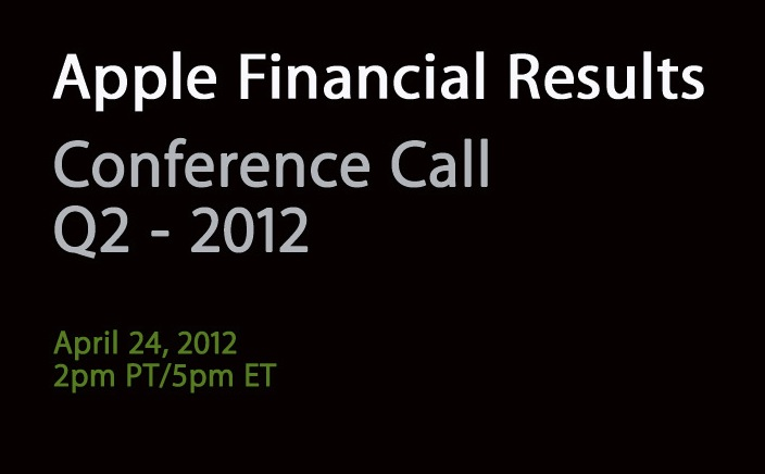 Financial Results Apple Q2 2012