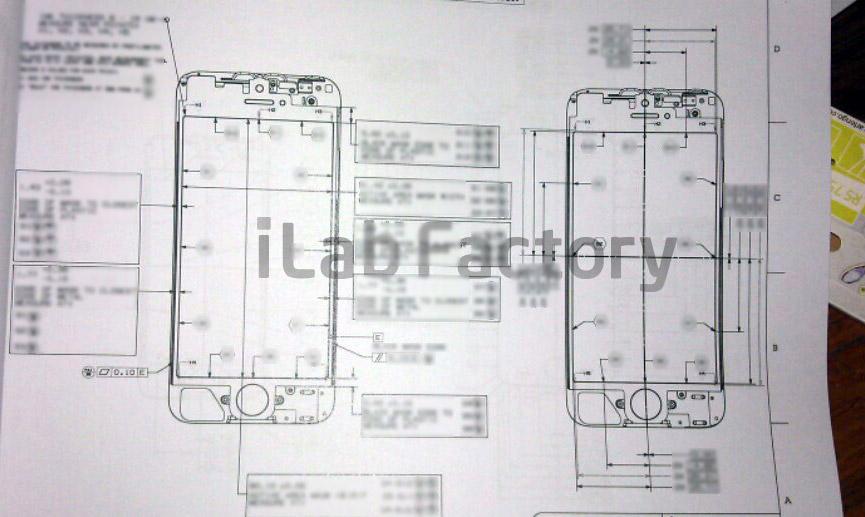 iPhone schematische tekening