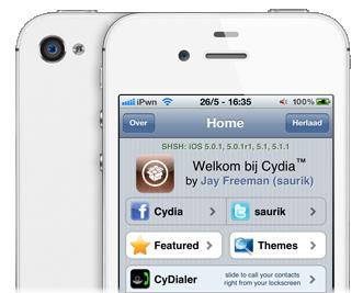 iOS 5.1.1 jailbreak met Absinthe 2.0