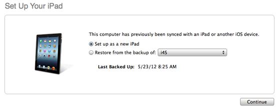 Herstellen van eerdere backup