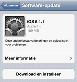 Updaten naar iOS 5.1.1