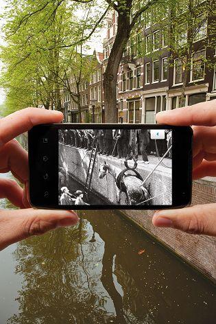 Street Museum NL scanner over de gracht