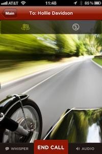 sidecar iphone meerijden
