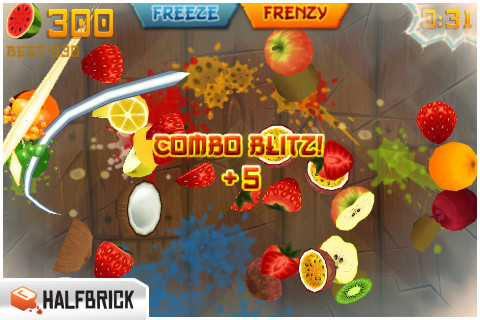 GU MA Fruit Ninja iPhone iPod touch update