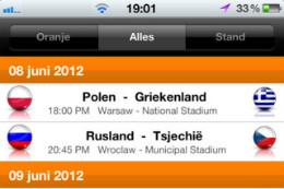 EK 2012 iPhone-apps EK 2012 Oranje